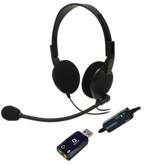 Andrea ANC-750 VM with livetech USB, Dragon certified High Fidelity Monaural PC Headset with Noise Canceling Microphone for Zoom, Skype, Webex...