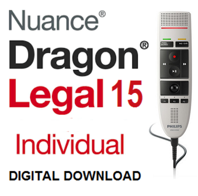 Dragon Legal 15.0 Full (ESD) with Philips SpeechMike LFH3200