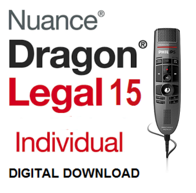 Nuance dragon Legal15 with Philips SpeechMike LFH3500