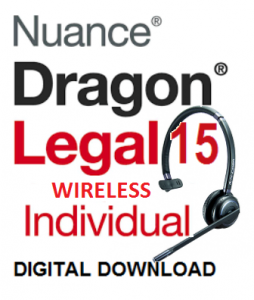 Dragon Legal 15.0 Full (ESD) with Andrea WNC2500 wireless microphone