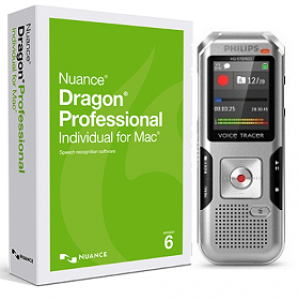 Nuance Dragon Dictate Professional 6.0 for Mac with Philips DVT4010